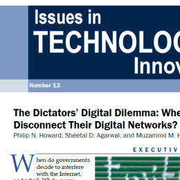 The Dictators' Digital Dilemma: When Do States Disconnect Their Digital Networks?